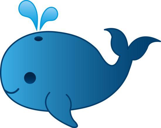 Little Blue Whale Clip Art - Free Clip Art