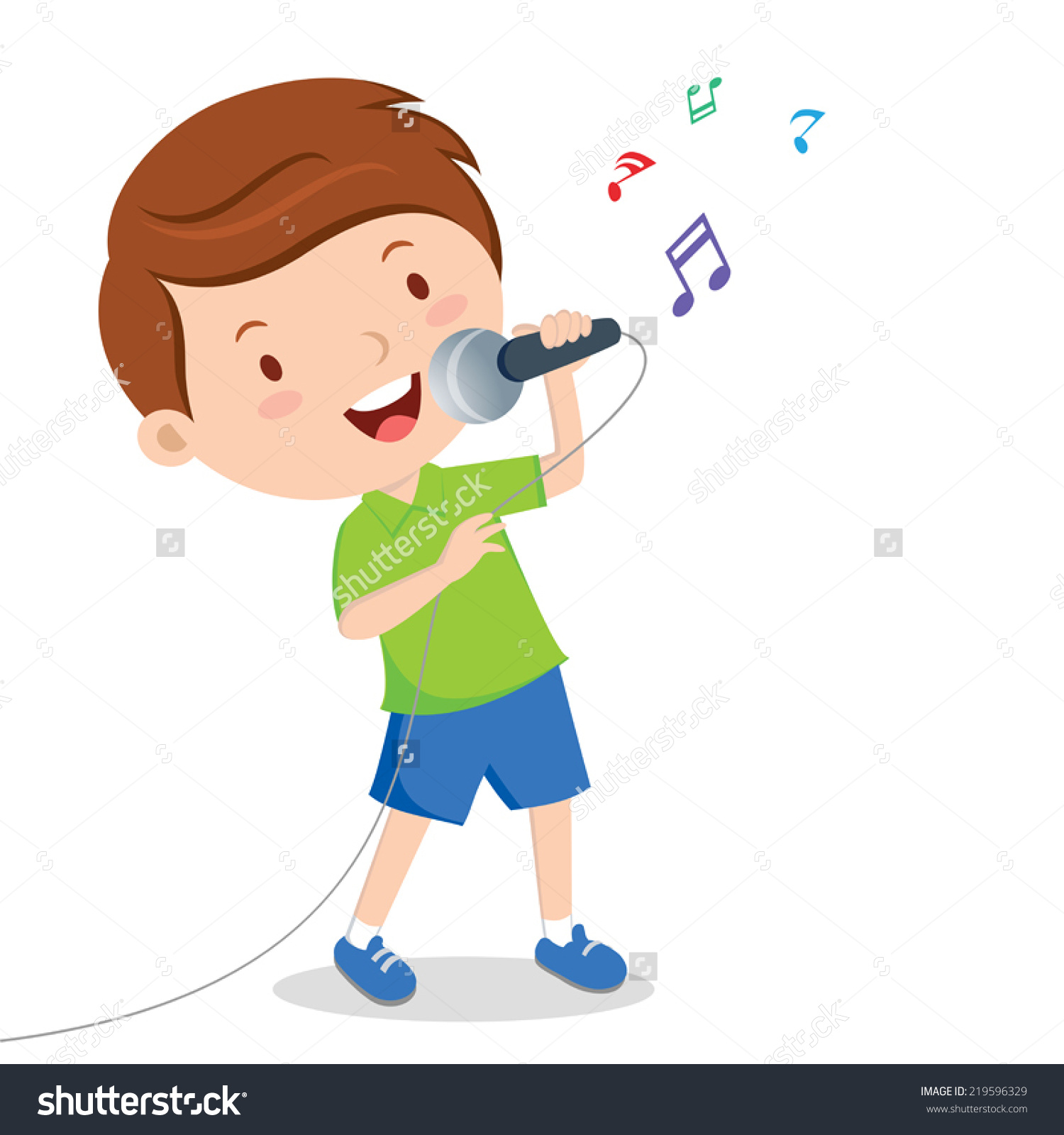 Little Boy Singing With .-Little Boy Singing With .-13