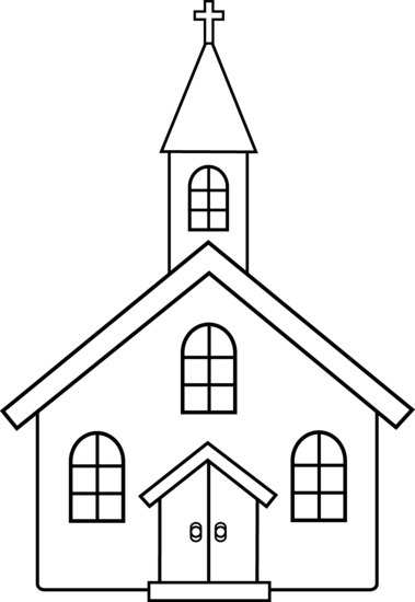 Little church line art free .