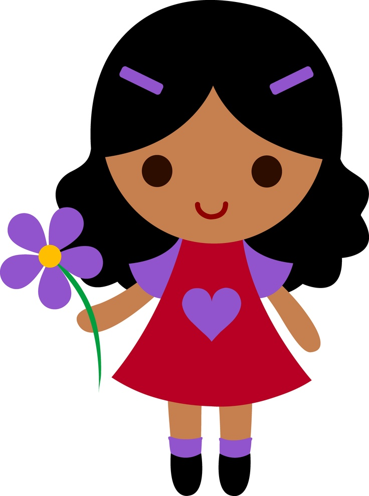 Little Girl Clip Art - Clipart Of Girl