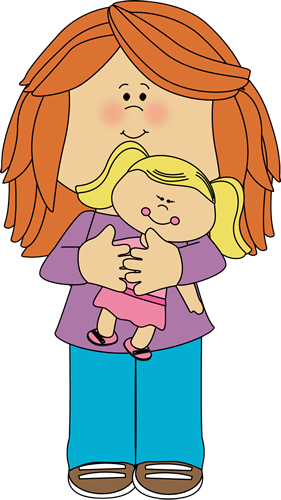 Little Girl Holding A Doll Clip Art Imag-Little Girl Holding A Doll Clip Art Image Little Girl Holding A Baby-11