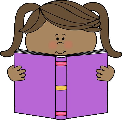 Little Girl Reading a Book Clip Art-Little Girl Reading a Book Clip Art-15