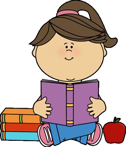 Little Girl Reading A School Book-Little Girl Reading a School Book-10