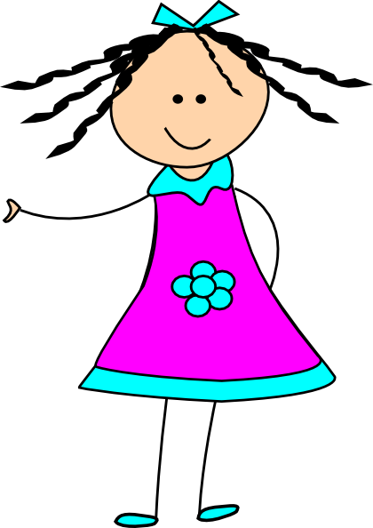 Little Happy Girl Clip Art ..