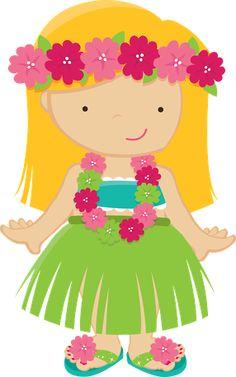 Little Hula Girl Clipart #1 - Hula Girl Clip Art