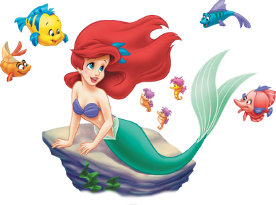 Little Mermaid and Ariel Clipart