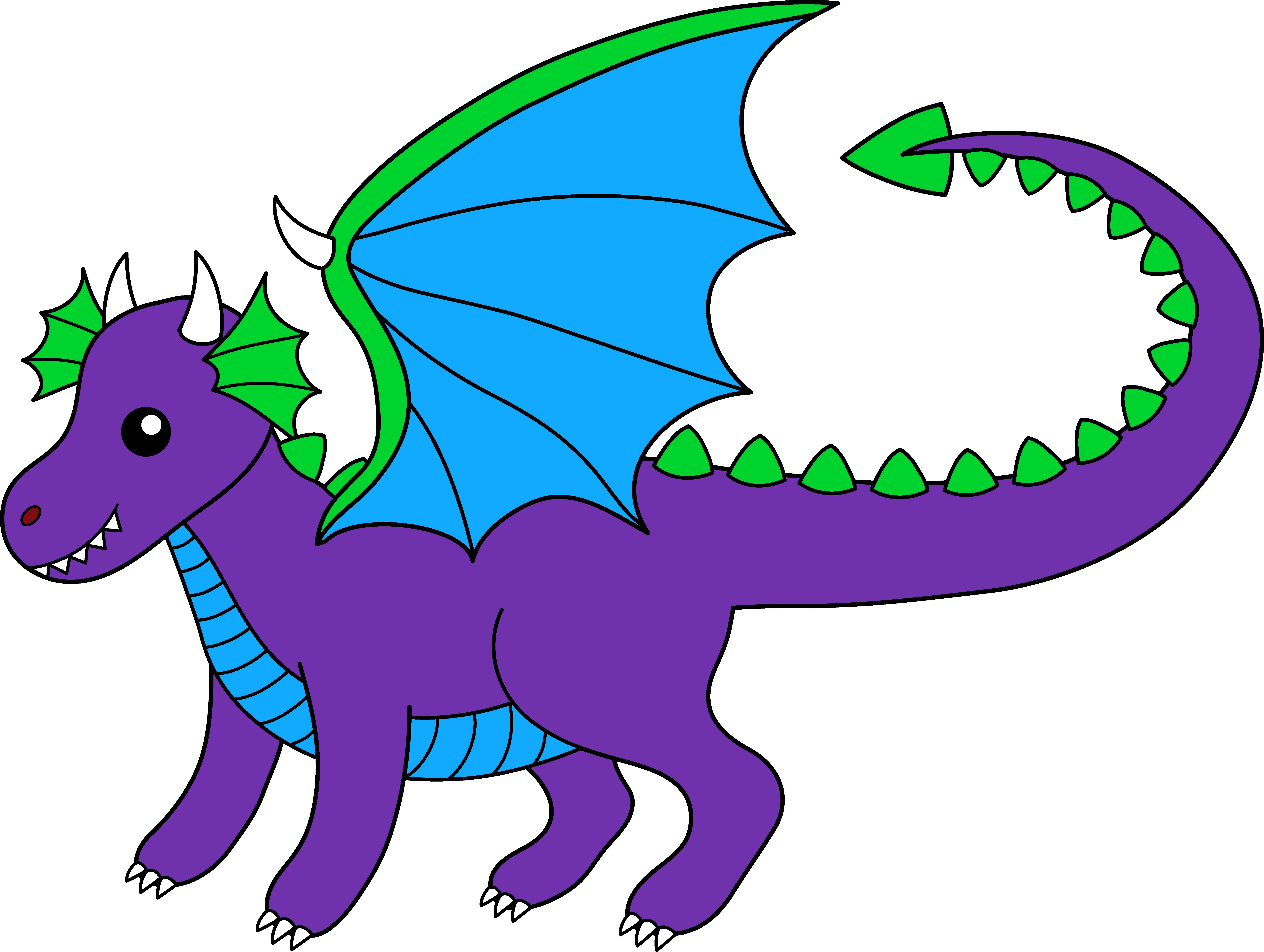 Little Purple Dragon - Free Clip Art-Little Purple Dragon - Free Clip Art-10