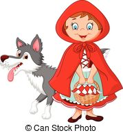 ... Little Red Riding Hood meeting - Vector illustration of.