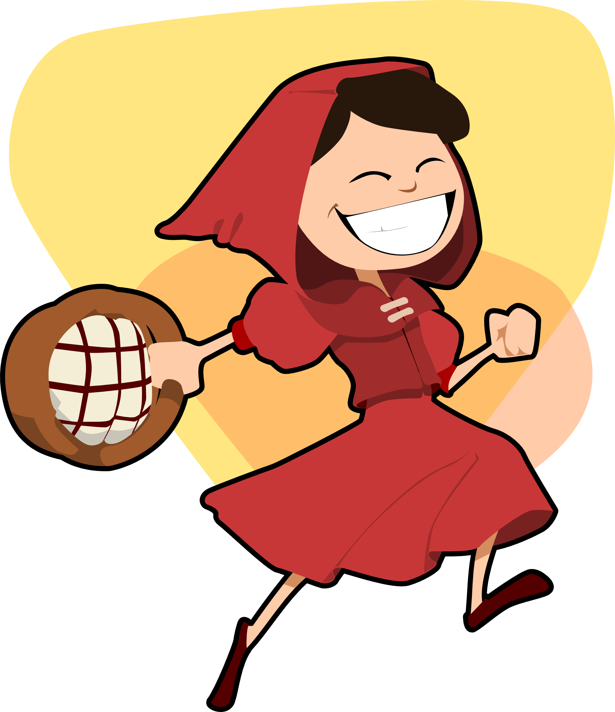 little red riding hood scalable vector graphics - Clipart library