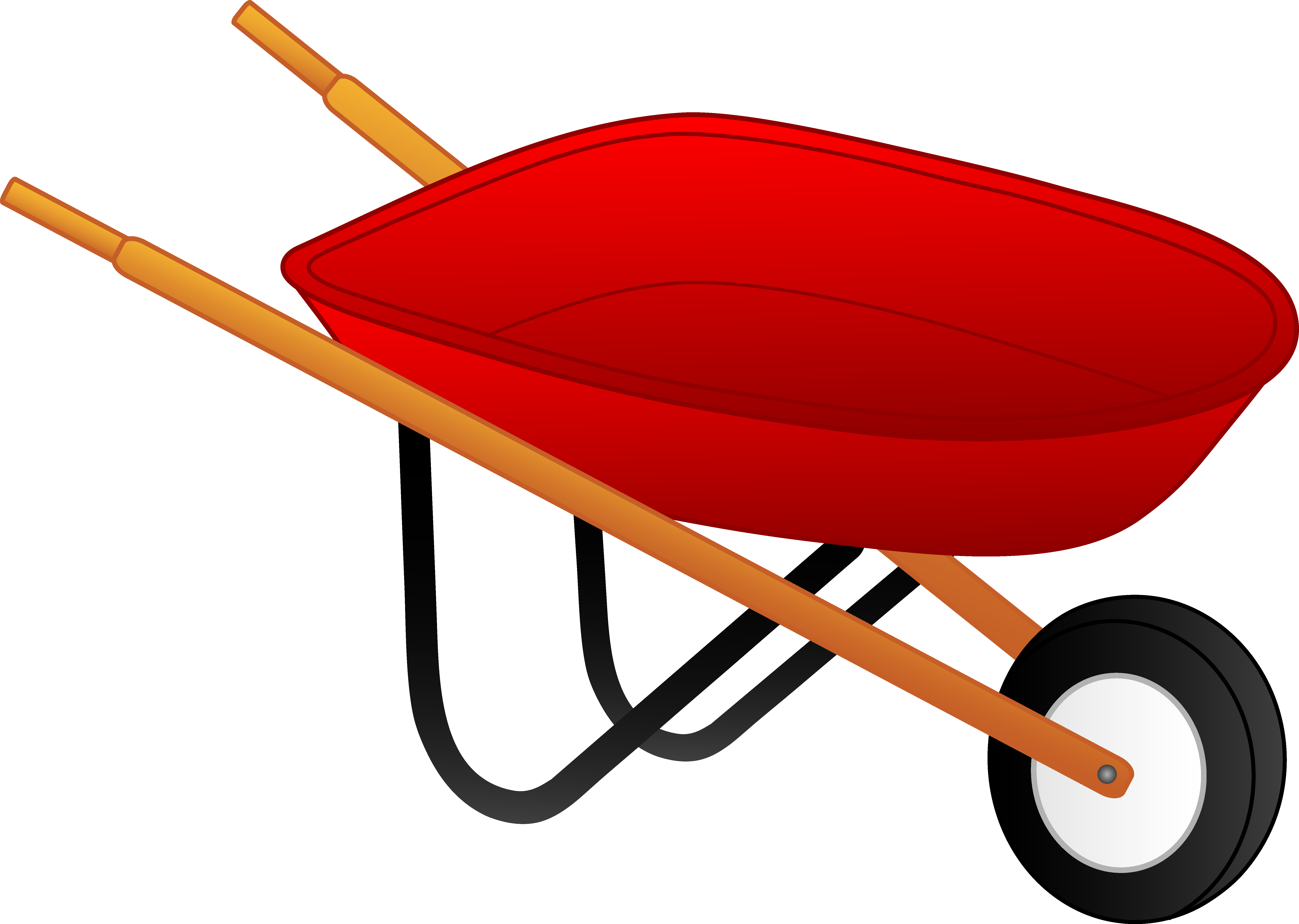 Little Red Wheelbarrow - Free Clip Art. -Little Red Wheelbarrow - Free Clip Art. Pix For Kids Yard Work ...-6