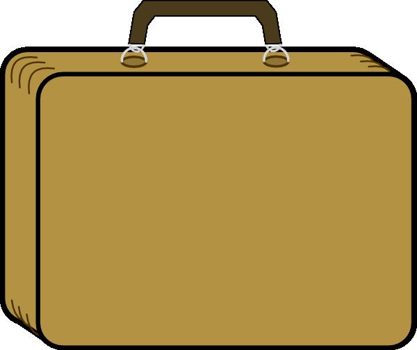 Little Tan Suitcase Clip Art At Clker Com Vector Clip Art Online