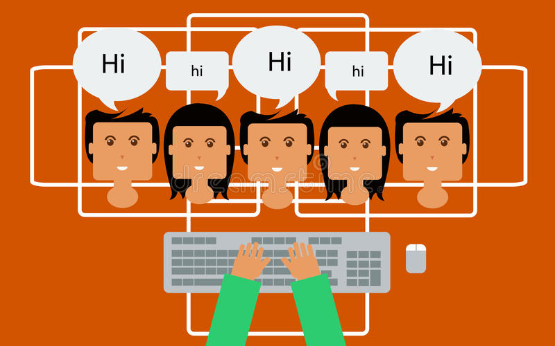Download Online Chat Concept ,Internet N-Download Online Chat Concept ,Internet Network People Chat,live Support  Stock Vector - Illustration-2