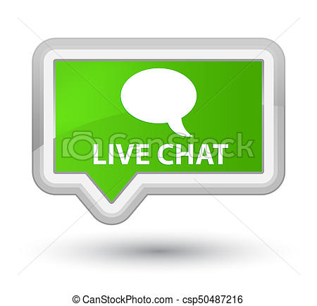 Live Chat Prime Soft Green Banner Button-Live chat prime soft green banner button - csp50487216-17