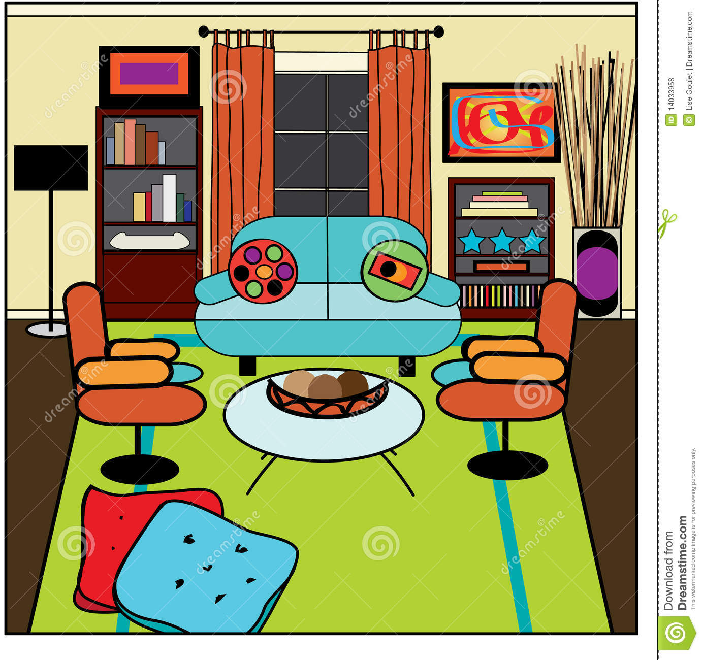 Living Room Clipart-Living Room Clipart-9