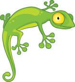 ... lizard cartoon ...