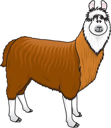 Llama Clip Art Cartoon-Llama Clip Art Cartoon-8
