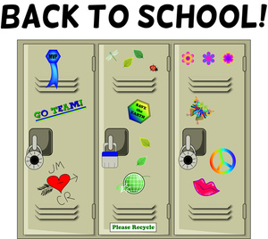 Lockers Clipart Image: Student .-Lockers Clipart Image: Student .-9