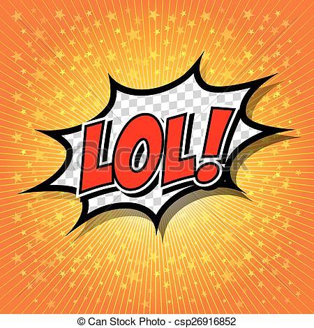 LoL! Comic Speech Bubble - csp26916852