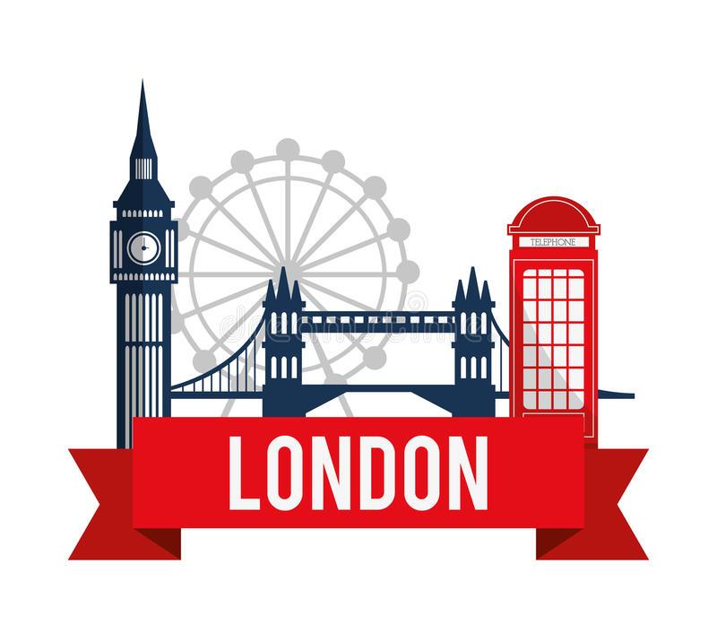 Download London landmarks design stock vector. Illustration of london -  61511948