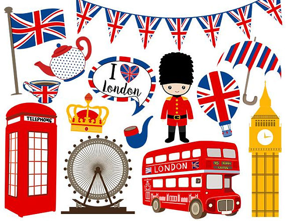 Instant Download London Digital Clip Art, British Clipart, England Digital Clip  Art, United Kingdom Clipart 0161