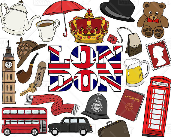 London Clipart Vector Pack, British Clipart, England, Travel Clipart, London  Graphics, British Vectors, London Stickers, SVG, PNG file