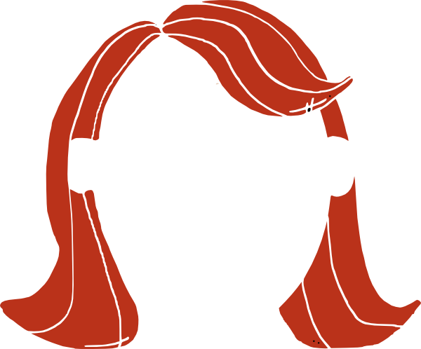 Long Hair Girl Clip Art At Cl - Hair Clip Art
