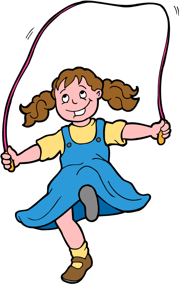 Long Jump Rope Clipart Kid