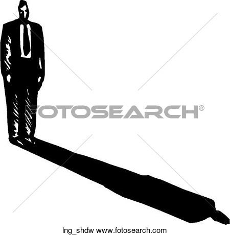 Long Shadow. Long Shadow. Advertising. Shadow Clip Art