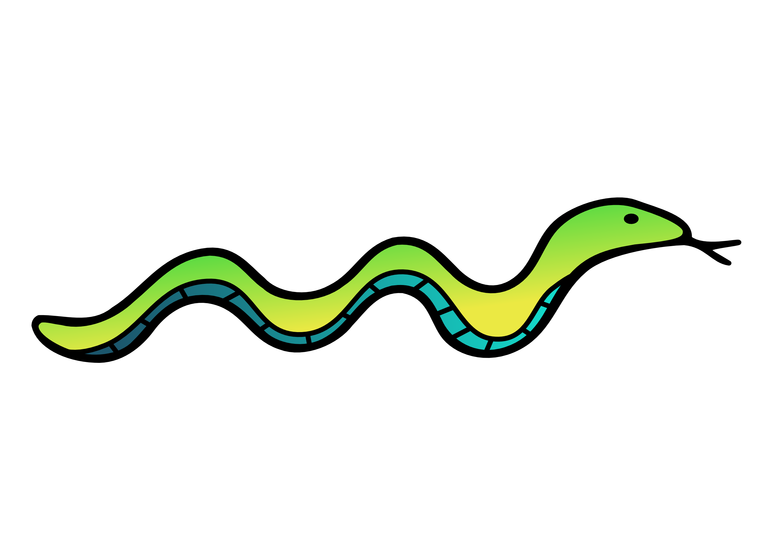 Long Snake Clipart