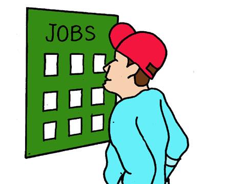 Looking for a Job Clip Art
