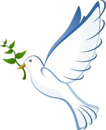 dove and cross clipart