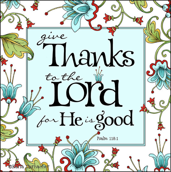 Lord Give Thanks Clipart - Bible Verse Clipart