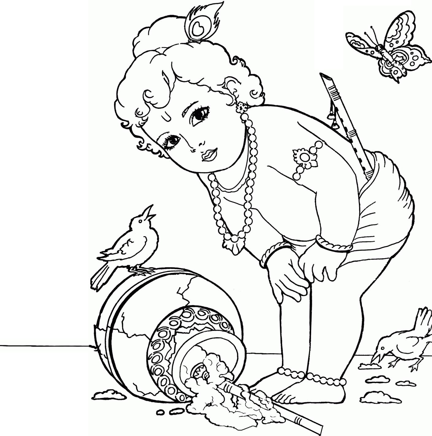 Drawings Of Baby Krishna Krishna Clipart God Krishna Baby u2013 Pencil And In  Color Krishna