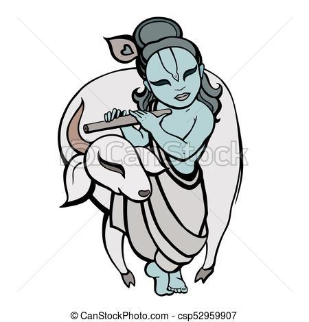 Hindu God Krishna. - csp52959907