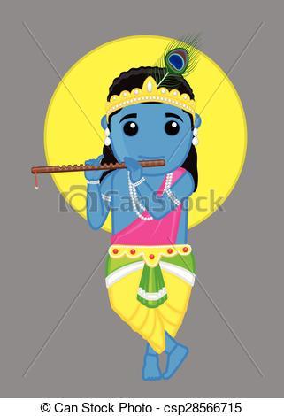 Hindu God - Lord Krishna - csp28566715