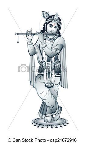 Indian God Krishna - csp21672916