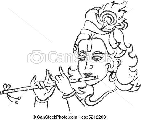 Lord Krishna Stipple Effect - csp52122031