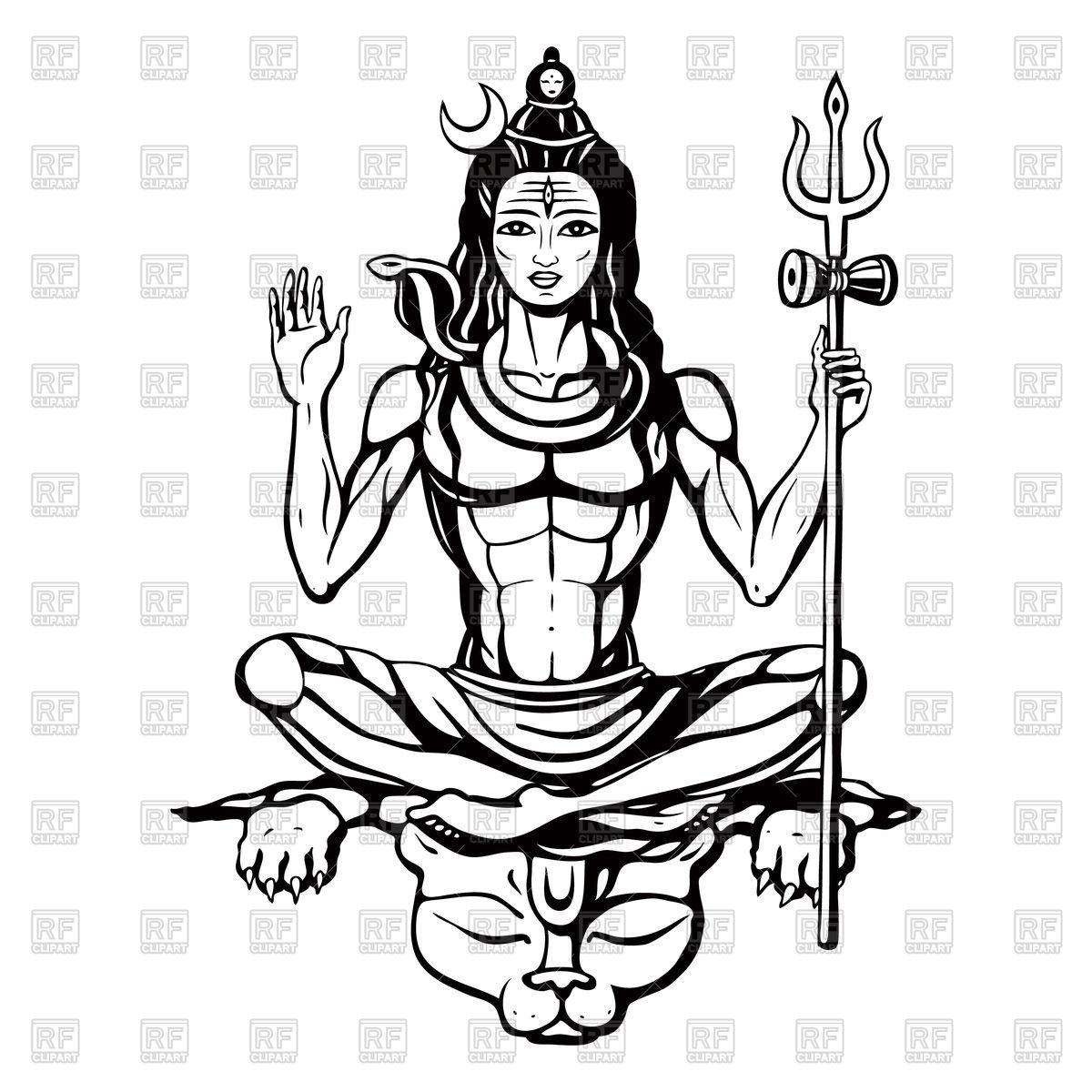 Lord Shiva - Hindu god Royalty Free Vector Clip Art