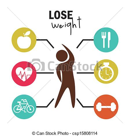 ... lose weight over white background vector illustration lose weight Clipartby ...