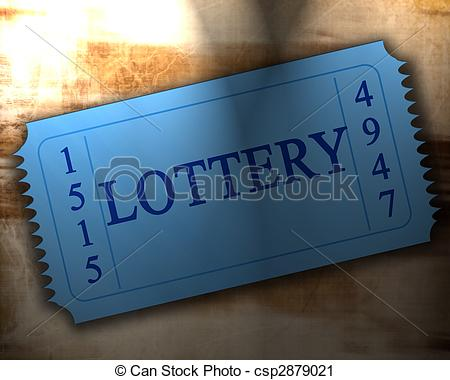 ... Lottery - Blue Lottery Ticket On An -... lottery - blue lottery ticket on an old paper texture lottery Clipartby ...-6