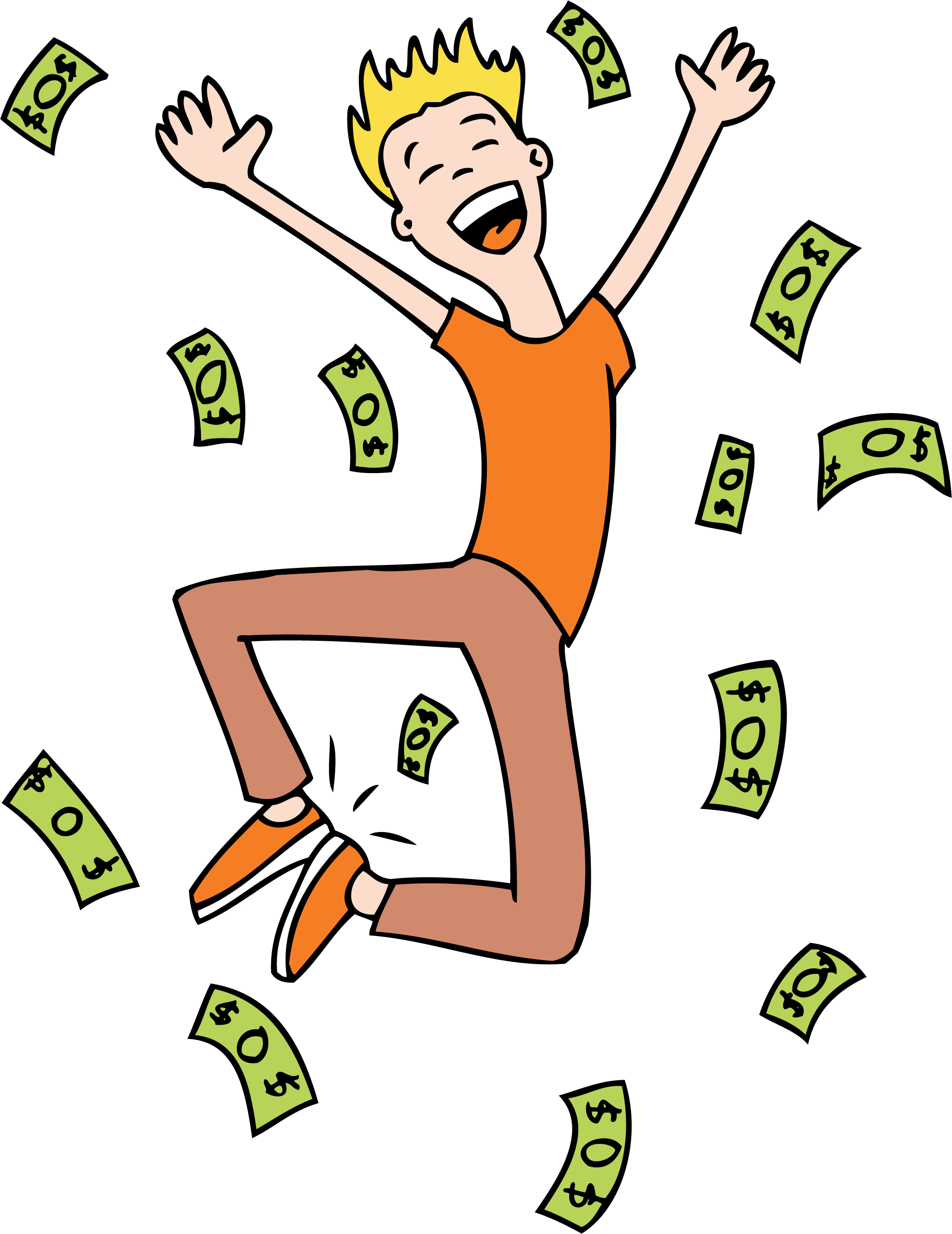 Lottery Winner Clipart #1