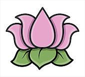... lotus flower clip art ...