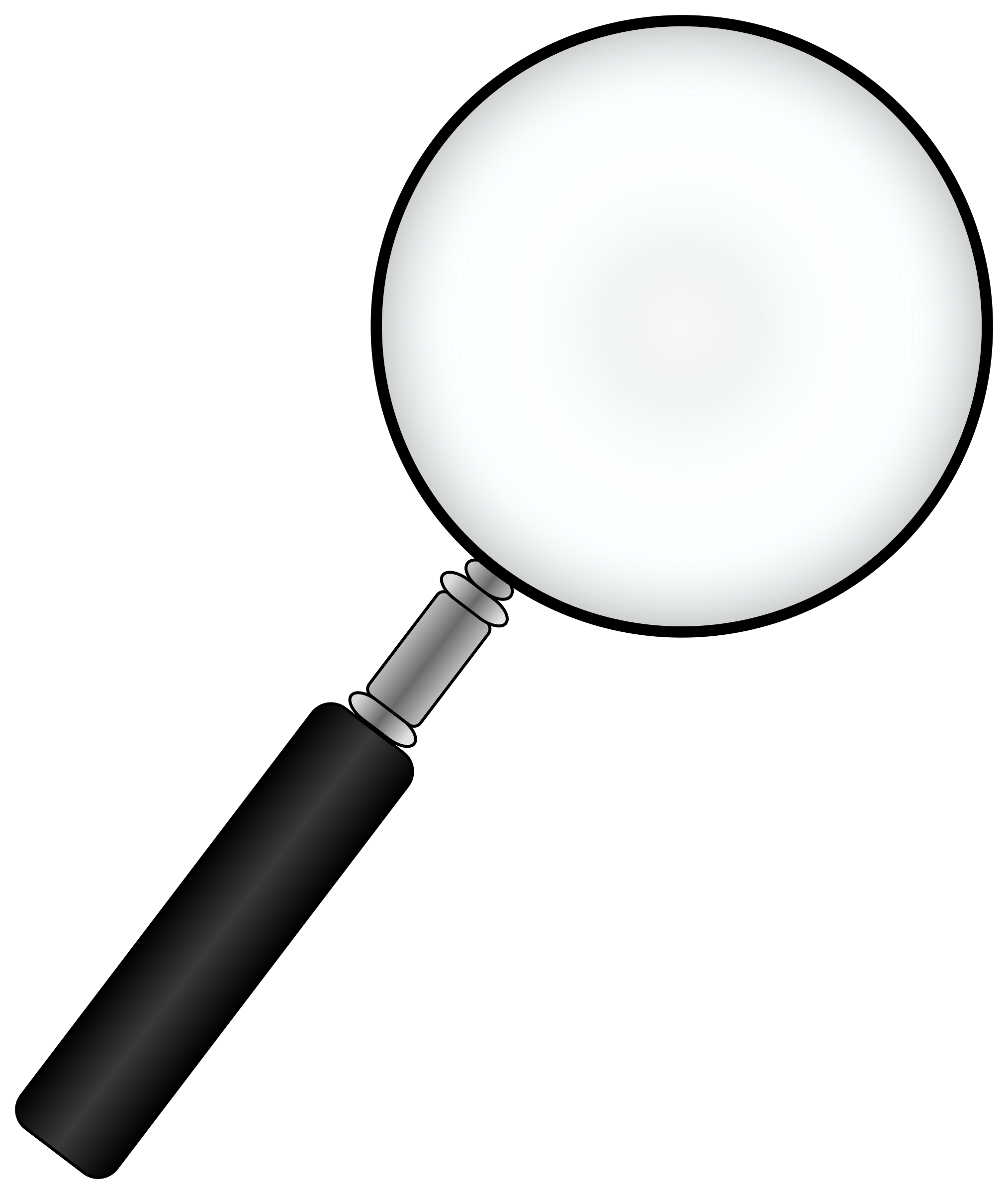Black Magnifying Glass Clip Art PNG