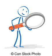 . ClipartLook.com Stickmen Loupe - Stick-. ClipartLook.com Stickmen Loupe - Stickmen with loupe on the white.-6