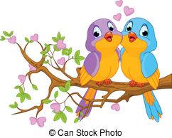 . ClipartLook.com Birds In Love - Two Lo-. ClipartLook.com Birds in Love - Two lovebirds sitting on blossom a tree.-1