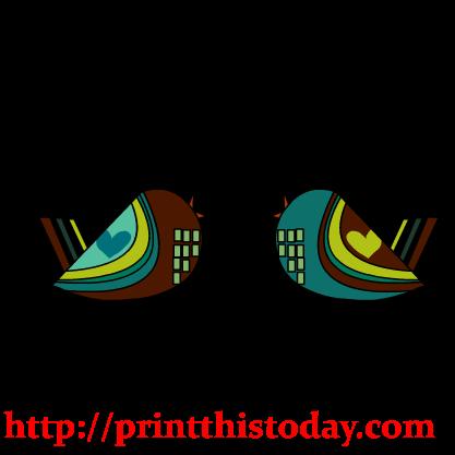 love birds clipart