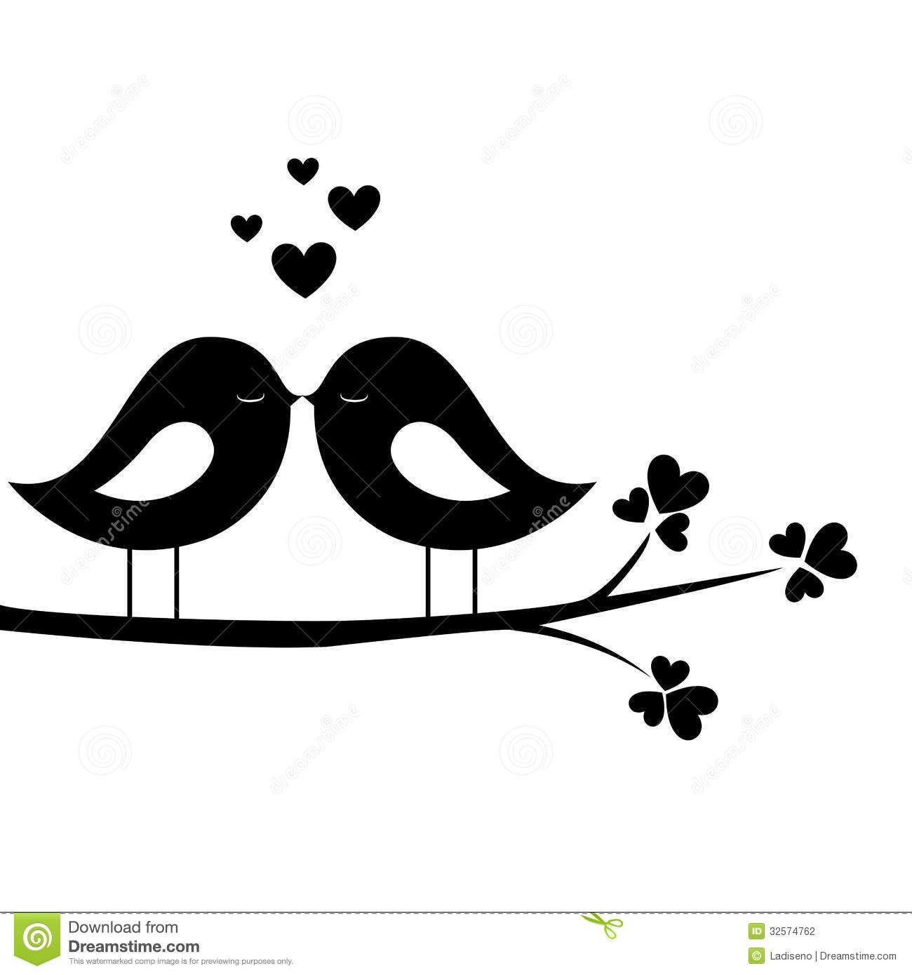 Love Birds Clipart Black - ClipartFest-Love birds clipart black - ClipartFest-11