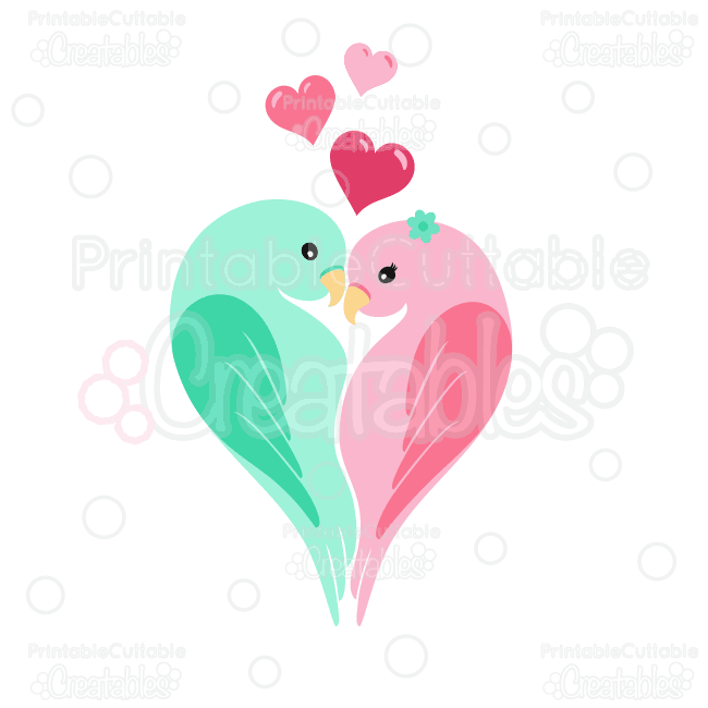 Love-Birds-Clipart-SVG-Cut-Files Sale!