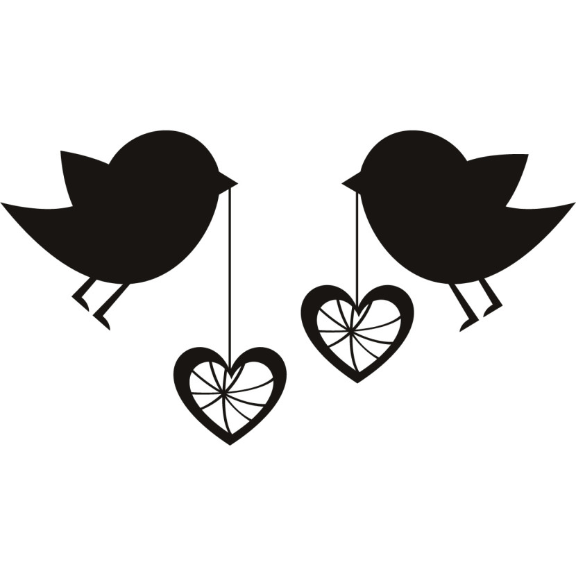 Love Birds Clipart vintage umbrella