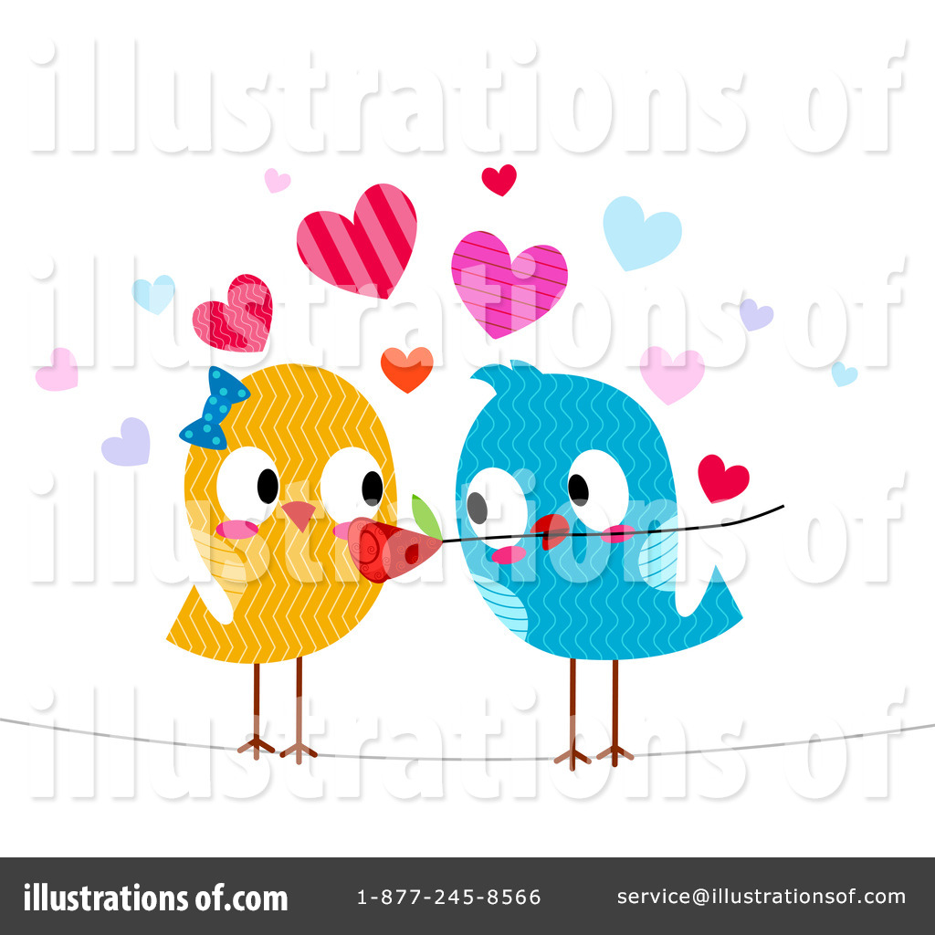 Royalty-Free (RF) Love Birds Clipart Ill-Royalty-Free (RF) Love Birds Clipart Illustration #443806 by BNP Design  Studio-16